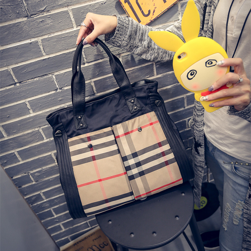 New Fashion Nylon Handbags Women Shoulder Bag Casual Travel Bag For Girls Bolsos Women Bags Waterproof Nylon Bags Big Size Tote