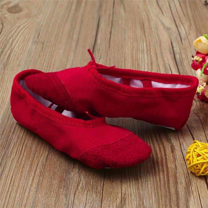 รองเท้าเด็ก 2019 ผ้าใบบัลเล่ต์ Pointe Dance รองเท้าฟิตเนสยิมนาสติกรองเท้าแตะเด็ก prewalker soulier Bebe ผู้หญิง