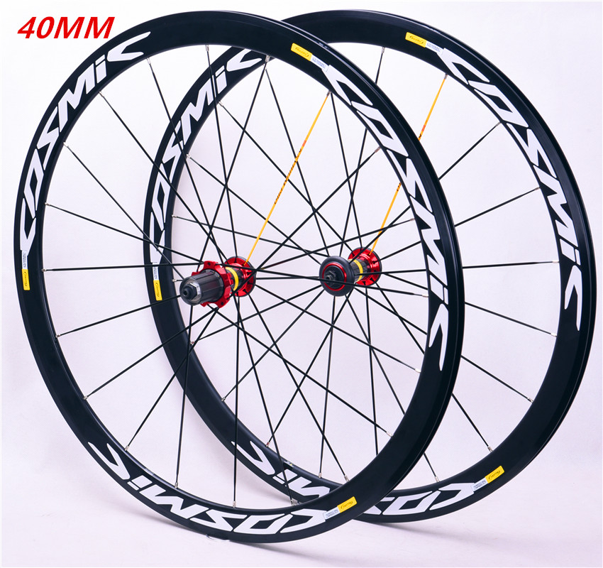 New Carbon Hub Ultra Light 700C 40mm Road Bike Aluminum Alloy Rim  Wheelset Bicycle Gear Set Compatible With  Wheelset