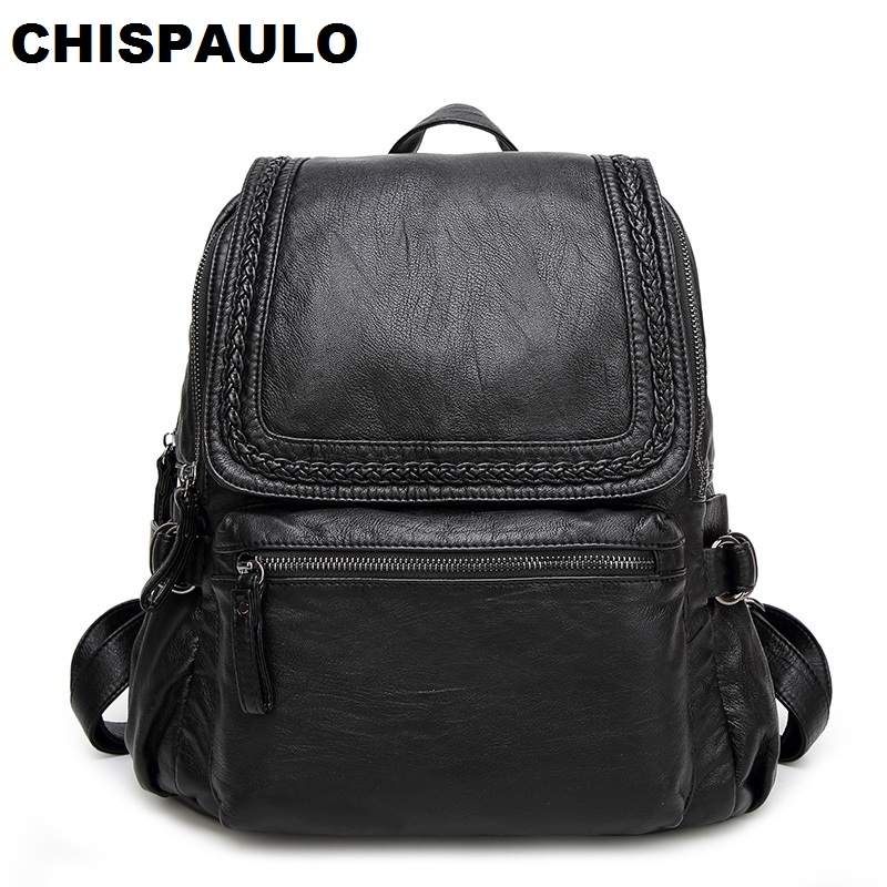 High Quality 2017 Fashion Soft Genuine Leather Backpack Women Brand Ladies Backpacks for Teenage Girls Casual School Bags N034 new arrival brand leather backpacks women high quality fashion school bags for teenage girls casual style design mochila ladies