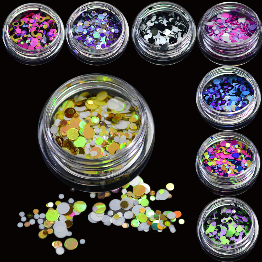 1g hot fashion 2017 nail glitter mixed colorful mini round nail art tips paillette decoration. Black Bedroom Furniture Sets. Home Design Ideas