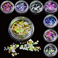 1g Hot Fashion 2017 Nail Glitter Mixed Colorful Mini Round Nail Art Tips Paillette Decoration Nail Art Thin Round Sticker P13-24