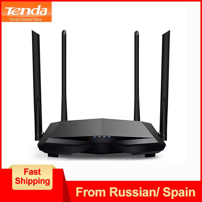 Tenda AC6 1200Mbps Wireless Wifi Router Smart Dual-Band Wi-Fi Repeater,  WISP Mode/APP Manage/Parental Control,Easy Setup