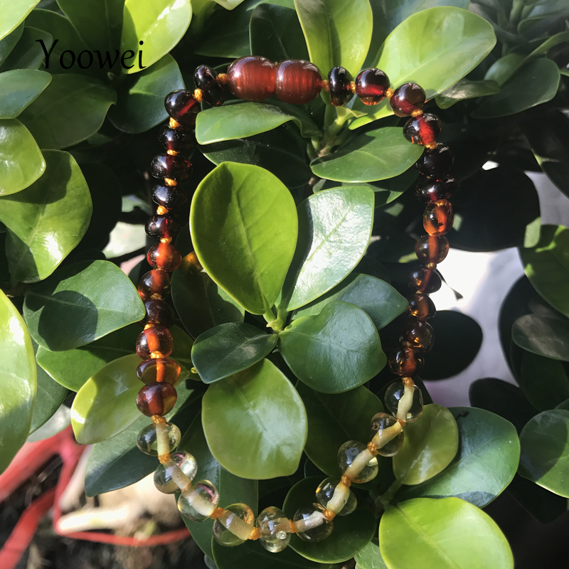 Yoowei ребенка при прорезывании зубов янтарный браслет/ожерелье 12 стиль женщины для мальчиков и девочек подарок натурального Балтийского янт...