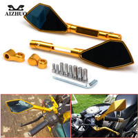 CNC Aluminum Side Mirrors Accessories Motorcycle Rearview Mirror For Honda CB1000R Grom MSX 125 CB1100 CB1300 PCX 125 XMAX 300