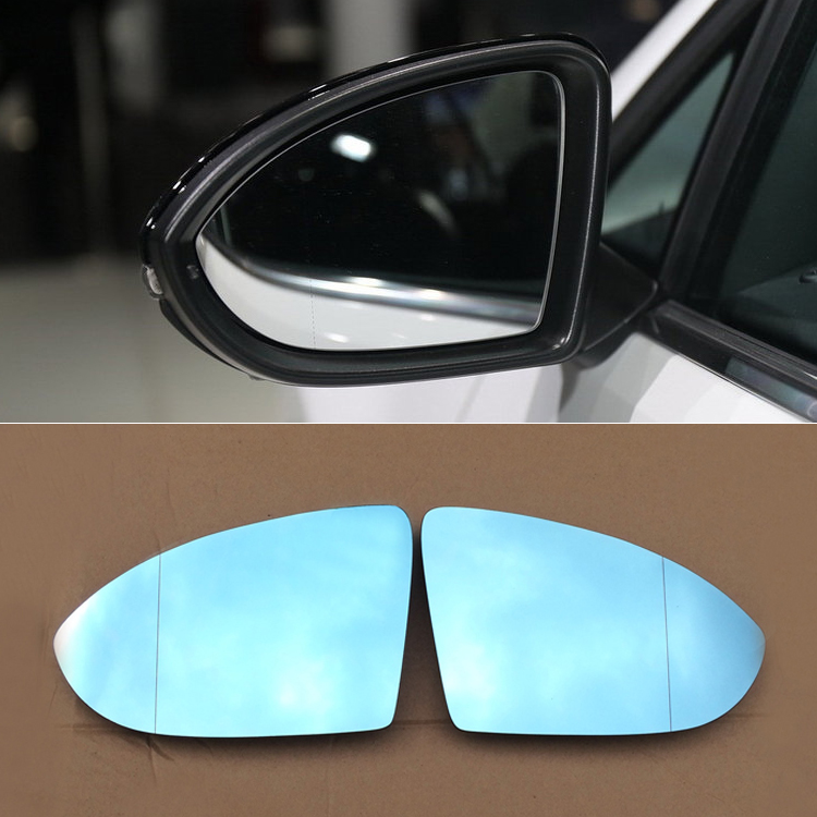 Ipoboo 2pcs New Power Heated w/Turn Signal Side View Mirror Blue Glasses For Volkswagen Golf