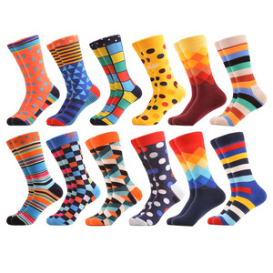 Image 3 - SANZETTI 12 pairs/lot Wholesale Funny Mens Combed Cotton Colorful Socks Ostrich Shark Pattern Novelty Causal Dress Wedding Sock