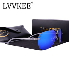 LVVKEE Brand Aluminum Magnesium Polarized Sunglasses Mens Driver Mirror Sun glasses Female Polaroid Lens ray Eyewear Accessories