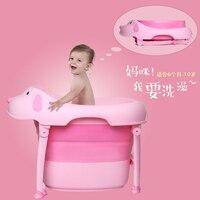 Kids Baby Folding Bath Tub Baby Swim Tubs Bath Body Washing Portable Folding Children Bebe Bathtub Bath Bucket Swimming Pool