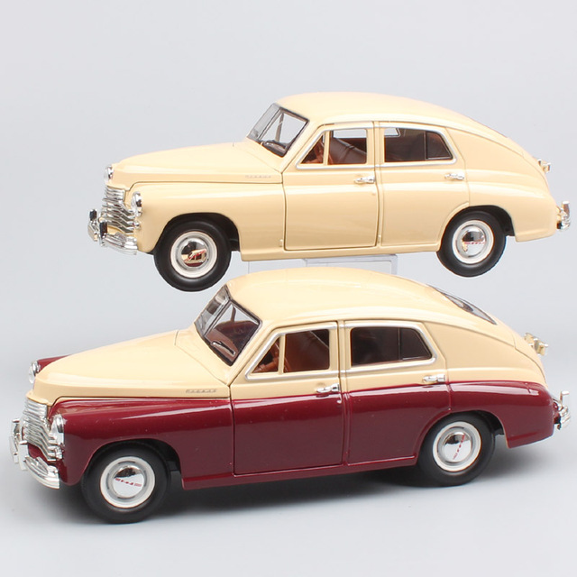 1/24 Scale Road Signature Russia Soviet vintage Gorky Gaz-M20 Pobeda Gaz M20 Volga diecast model car miniature toy for collector