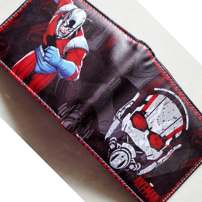 Comics DC Marvel luxury wallet Cartoon Animation Ant Man Purse Creative Gift Wallets PU Leather 4.5 inch carteira masculina фигурка ant man ant man yellow jacket pop marvel