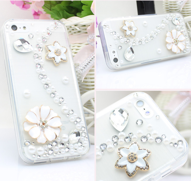 For Huawei P7 case rhinestone mobile phone cases Transparent case protective cover colorful glossy case 10