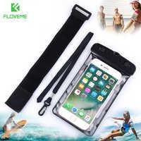 """Floveme 6.2 """"universal à prova dipágua ipx8 subaquática bolsa de natação à prova dwaterproof água caso do telefone para samsung s8 s9 para iphone x 8 7 5S"""