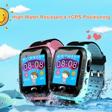 Детская смартфон часы SOS голосового вызова GPS позиционирования Smart Сенсорный экран Длинные ожидания часы для Обувь для мальчиков Обувь для девочек студенты дети