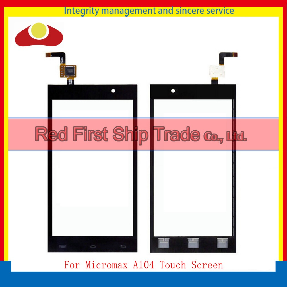 10 шт./лот Высокое качество для Micromax A104 Холст пожарный 2 смартфон Сенсорный экран планшета Сенсор спереди Стекло объектив Панель черный