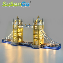 SuSenGo LED Light Kit Only For 10214 Architecture London Tower Bridge Lighting Set Compatible With 17004 30001 88004