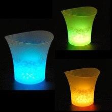 5л Водонепроницаемый светодиодный ведро для льда Красочные бары Ночные клубы светодиодный светильник шампанского пивные ведра бары Ночные вечерние ведра для льда