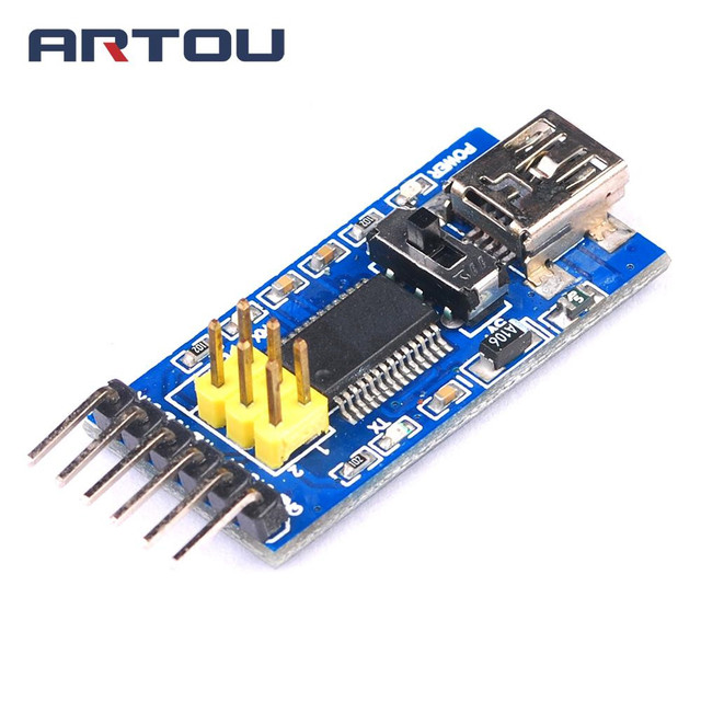 US $2 08 17% OFF|1PCS Basic Breakout Board FT232RL FTDI USB to TTL Serial  IC Adapter Converter Module Mini Port 3 3V 5V FT232 Switch-in Integrated