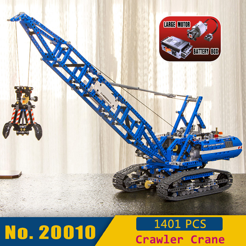 IN STOCK Huge Crawler Crane 20010 Technic Series Building Blocks DIY Assembly Toys with Power Functions LegoINGlys 42042IN STOCK Huge Crawler Crane 20010 Technic Series Building Blocks DIY Assembly Toys with Power Functions LegoINGlys 42042