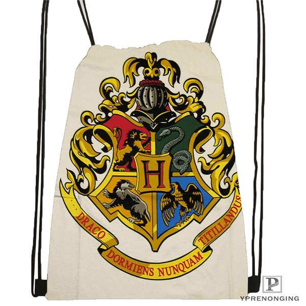 Custom Harry_potter_hufflepuff    Drawstring Backpack Bag Cute Daypack Kids Satchel (Black Back) 31x40cm#20180611-02-96