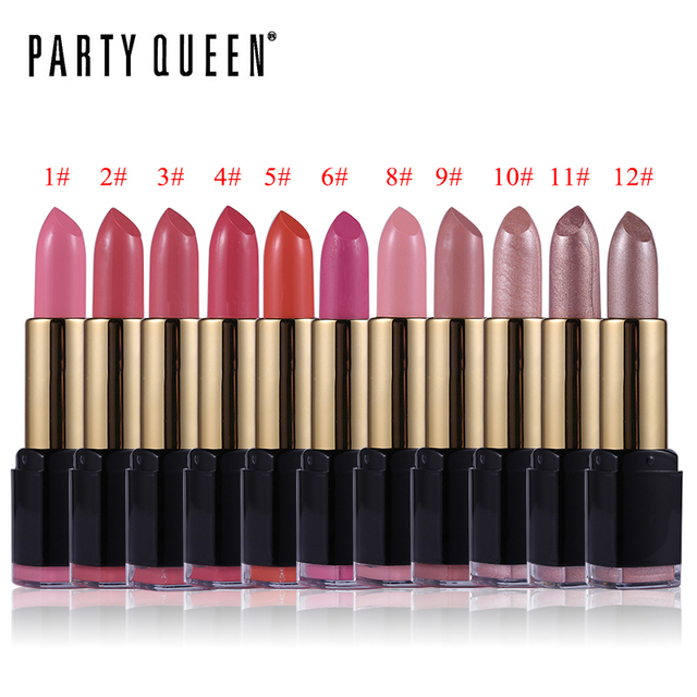 Party Queen 1PCS Rouge Velvet Matte Lipstick Ultra Nourish Smooth Batom Makeup Colorful Charmed Waterproof Shimmer Lips Cosmetic