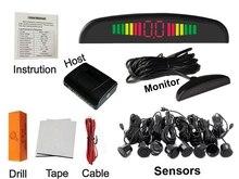 Sensor de Aparcamiento 8 sensores + Zumbador Detector de Radar del Revés del Sistema de Copia de seguridad de Alerta de Sonido 4 colores para elegir El Envío libre!