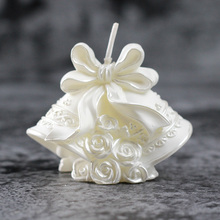 Nicole Silicone Candle Mold 3D Christmas Bell Shape Handmade Craft Soap Mould