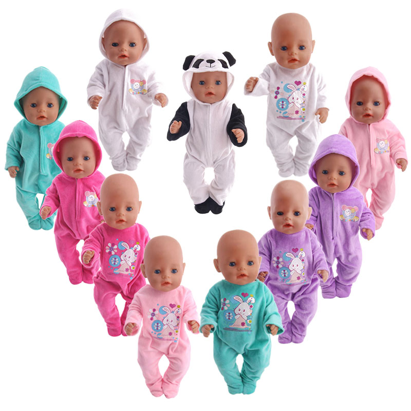 Luckydoll Casual Doll Pajamas Fit 18 Inch American 43cm Baby Doll Clothes Accessories Children's Best Christmas Gifts