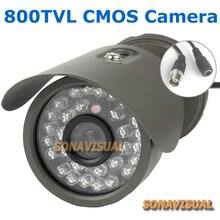 Waterproof 800TVL HD Security Outdoor CCTV Camera With 30 IR Light Night Vision Color Image Surveillance Camera Factory Supply