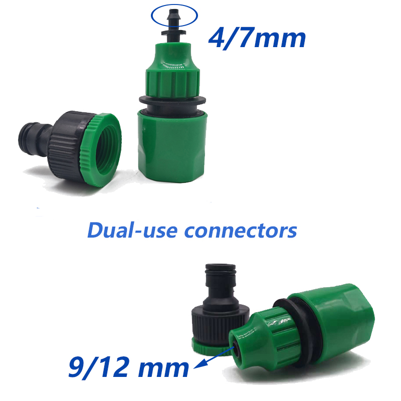 Garden Irrigation Tap 4//7mm Hose Splitter Drip Hose Fitting Pipe Quick Connector