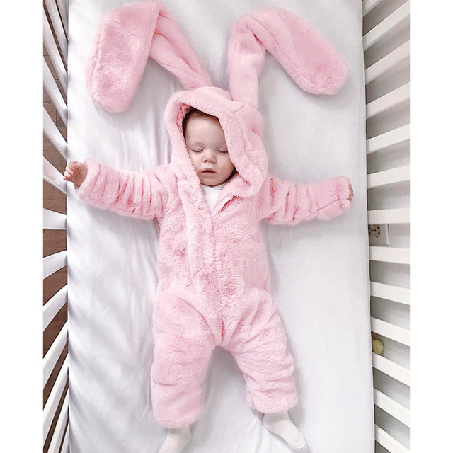 e25f1c9a0 Autumn Winter Flannel Baby Boy Clothes Cartoon Animal Jumpsuit Baby ...