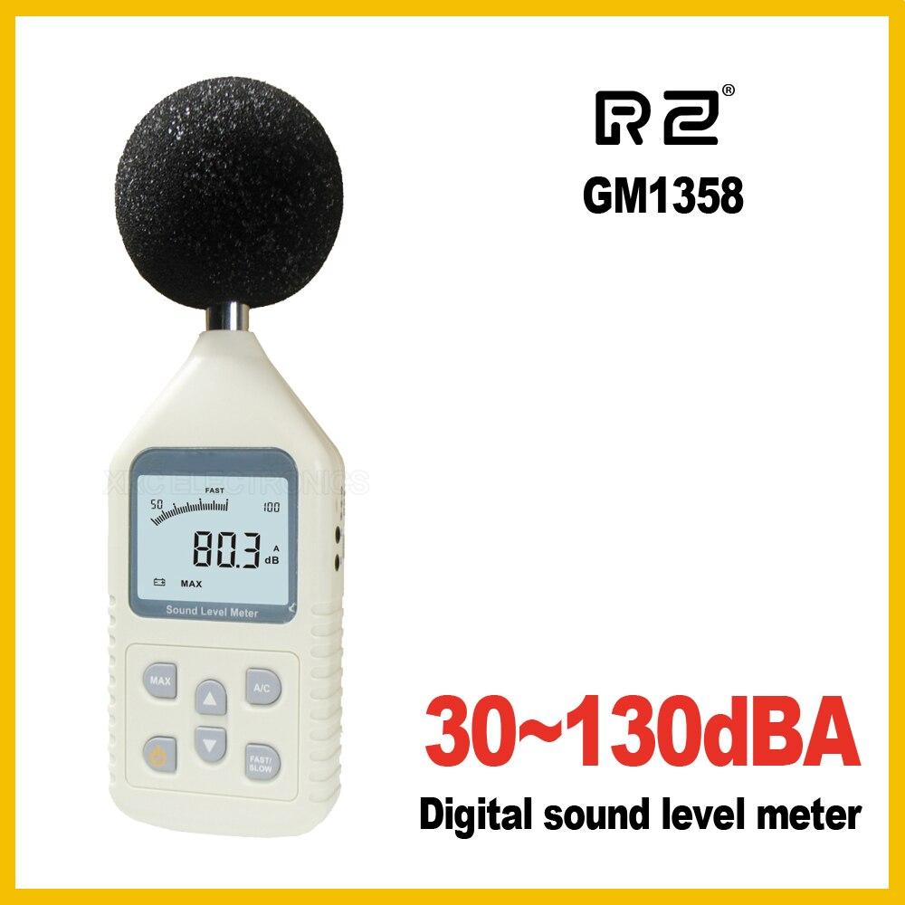Ernst Rz Gm1358 30-130db Digital Sound Level Meter Meter Lärm Tester In Dezibel Lcd A/c Schnelle/langsam Db Bildschirm New Diversifiziert In Der Verpackung