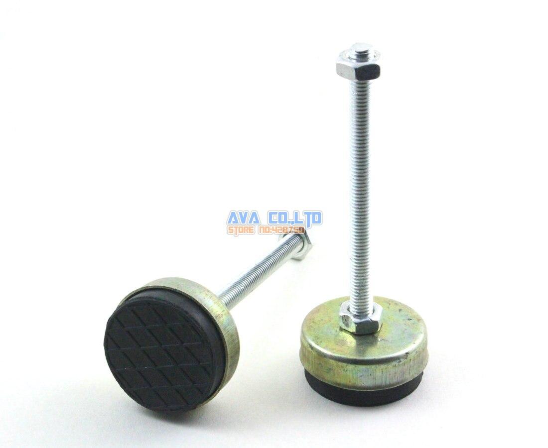4 Pieces 43mm Base M8x100mm Adjustable Anti Slip Lathe Leg Furniture Leveling Feet Pad thyssen parts leveling sensor yg 39g1k door zone switch leveling photoelectric sensors