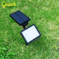 Модернизированный яркий 960LM Солнечный газонный светильник Садовый Солнечный светильник s 48 светодиодов с панелью беспроводное использован...