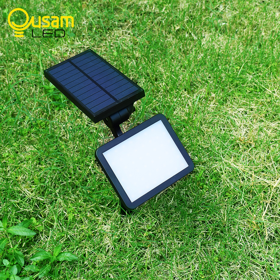 Solar Lawn Lamp Upgraded Bright 960LM Garden Solar Lights 48leds With Panel Wireless Use On Lawn/Wall Light Waterproof IP65
