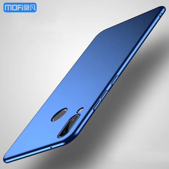 US $6 48 28% OFF|P20 lite case for Huawei P20 lite case cover for Huawei  nova 3e case PC hard back cover black red soild color thin nova3e cover-in