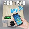 Приложение 48V 15Ah Электрический велосипед LiFePO4 батарея + BMS  зарядное устройство Bluetooth GPS контроль 5V USB порт пакет скутер электрический велосип...