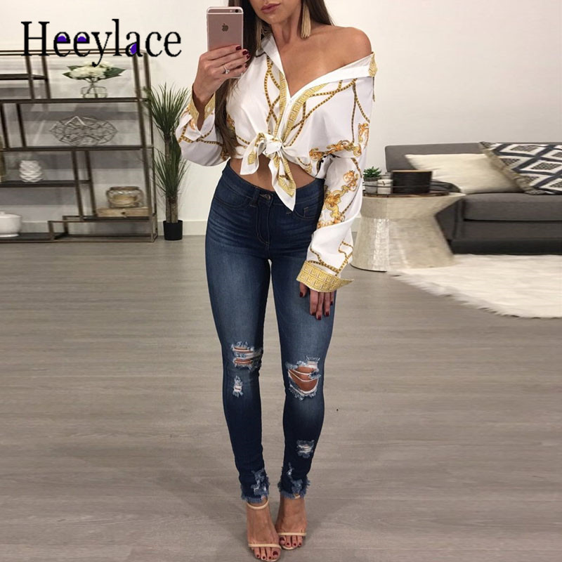 Women Tunic Tops Sexy V-Neck Elegant Shirt digital Print Blouses Shirt women Casual Long Sleeve Vintage Boho Tops camisas mujer