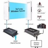 MiraBox Беспроводной HDMI Extender открытый 3000 м Крытый 150 м двойной антенны Поддержка Full HD 1080 P ИК Wi Fi HDMI передачи