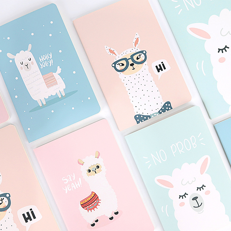 A5 Alpaca Notebook Soft Cover Notepad Office School Stationery Mini Portable Funny Bullet Journal Kawaii Animal Diary Planner