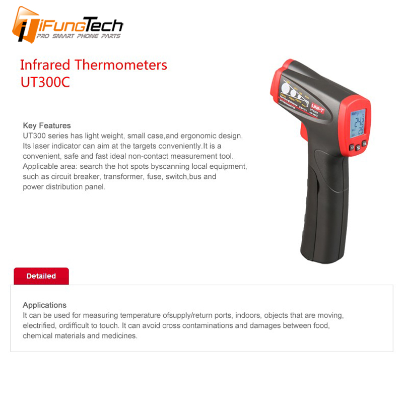 UNI-T UT300C Infrared Thermometer measure temperature from a distance EASY to carry non-contact fast test temperature