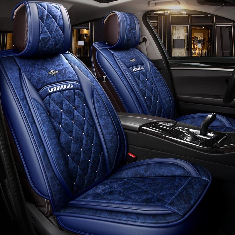Coussin de siège de voiture en peluche d'hiver pour Hyundai i30 ix35 ix25 Elantra Santa Fe Sonata Tucson coussin de voiture, coussins de siège auto