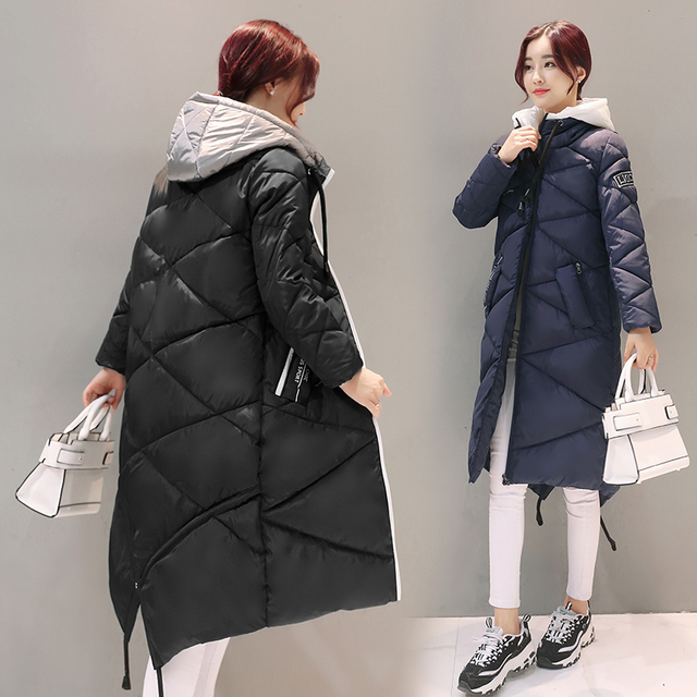fashion Women 's Coat paragraph winter cotton Windbreaker ladies long cotton jacket