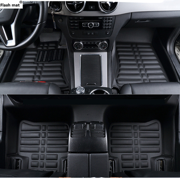 Flash mat car floor mats for Mitsubishi Pajero ASX Lancer SPORT EX Zinger FORTIS Outlander Grandis Galant car styling foot mats