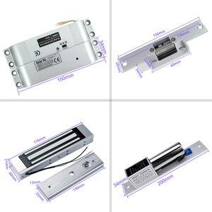 Image 3 - Комплект системы контроля доступа 125 кГц IP68, водонепроницаемая металлическая панель с радиочастотной клавиатурой + Электрический замок + Переключатель выхода двери, внешний источник питания