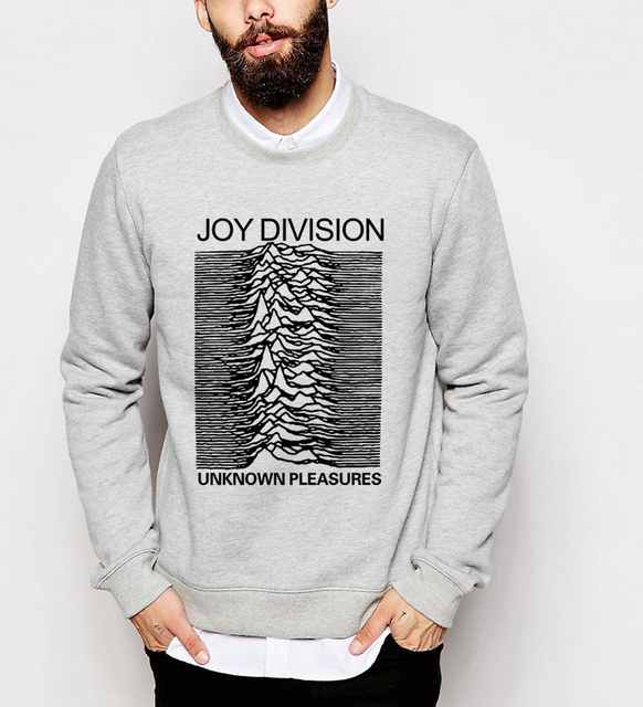 Joy Division Unknown Pleasure funny printed tracksuits men autumn winter fleece long sleeve sweatshirts 2017 hip hop hoodies mma