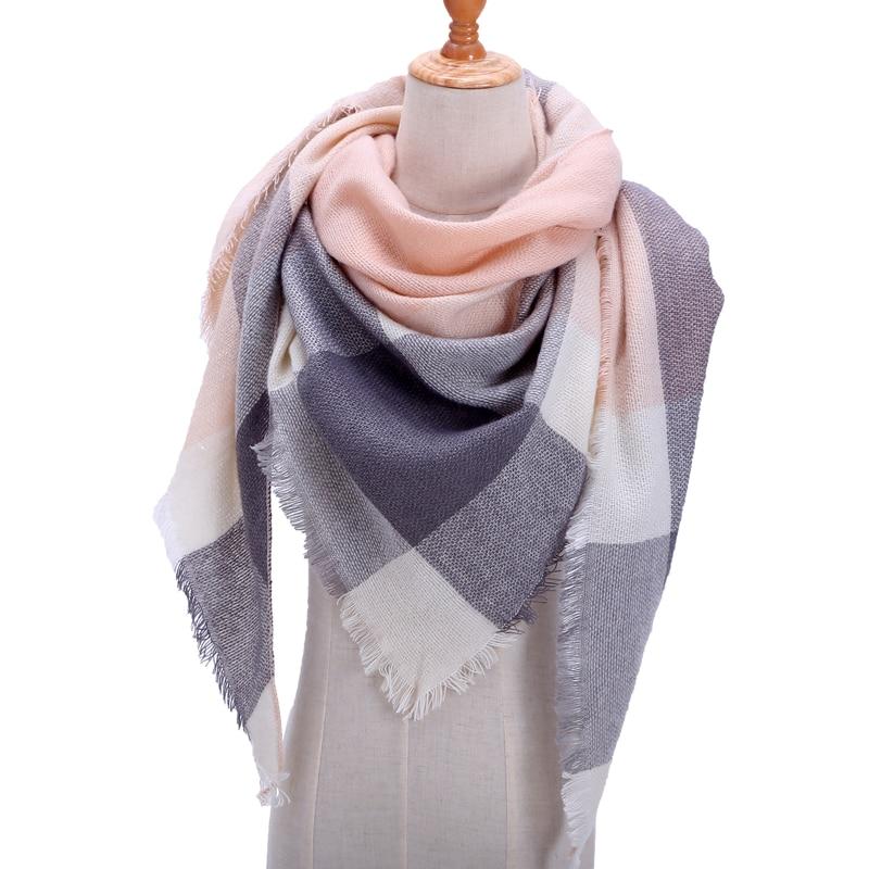 Бандана палантин платок на шею шарф зимний Дизайнер трикотажные весна-зима женщины шарф плед теплые кашемировые шарфы платки люксовый бренд шеи бандана пашмина леди обернуть - Цвет: b3