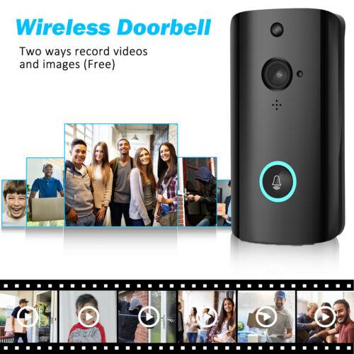 WiFi Wireless Video Doorbell Two Way Talk Smart Door Bell Security Camera HD|Doorbell| |  - title=