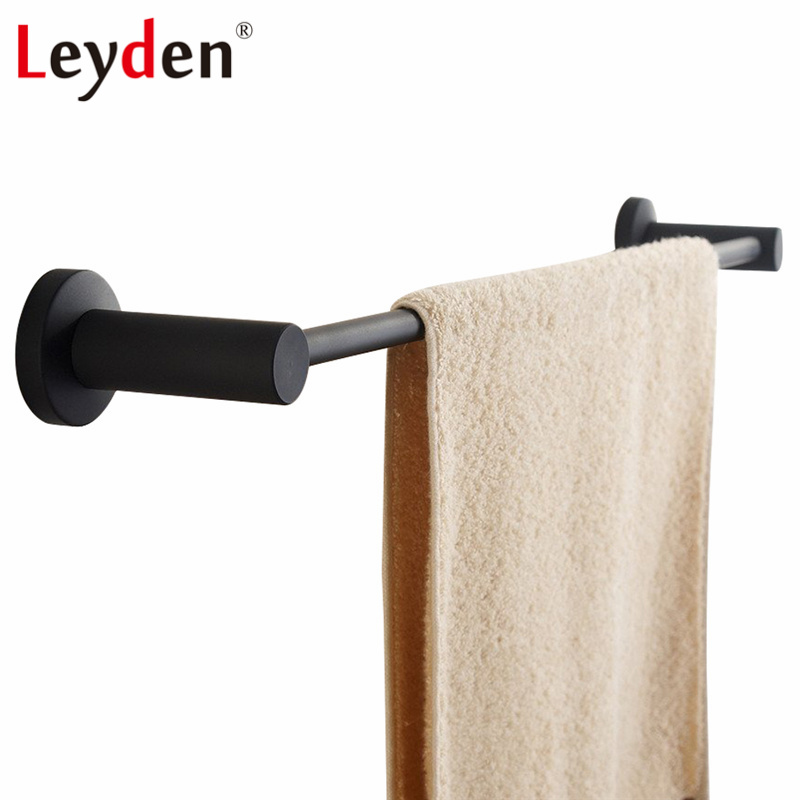 Leyden 304sus Stainless Steel Single Towel Holder Round Modern Rail Wall Mounted Black Bar Rack Bathroom Accessories In Bars From Home