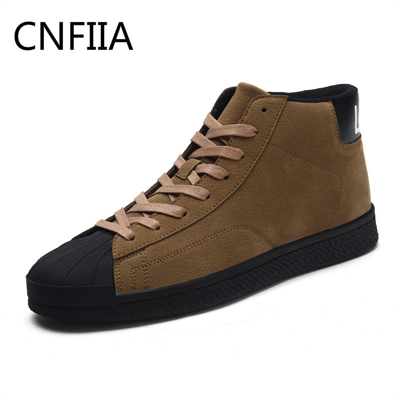 CNFIIA Men Boots Men Casual Shoes Autumn Winter 2018 New Brown Gray Black Ankle Boots Male Walking Comfortable Skate Shoes Cool ...